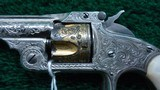 FACTORY ENGRAVED CASED SMITH & WESSON 32 SINGLE ACTION REVOLVER - 8 of 17