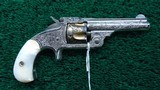 FACTORY ENGRAVED CASED SMITH & WESSON 32 SINGLE ACTION REVOLVER - 2 of 17
