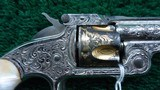 FACTORY ENGRAVED CASED SMITH & WESSON 32 SINGLE ACTION REVOLVER - 7 of 17