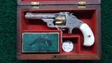 FACTORY ENGRAVED CASED SMITH & WESSON 32 SINGLE ACTION REVOLVER - 1 of 17