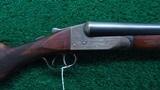 ITHACA FLUES 12 GAUGE SxS DOUBLE BARREL SHOTGUN