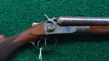 HOPKINS & ALLEN ARMS COMPANY DOUBLE BARREL HAMMER SHOTGUN