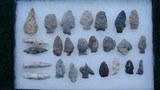 12 x 8 INCH DISPLAY CASE HOUSING 21 ARROWHEADS
