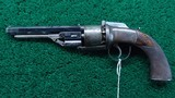 VERY FINE JAMES BEATTIE ENGLISH DOUBLE ACTION PERCUSSION TRANSITIONAL REVOLVER - 2 of 14