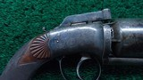 VERY FINE JAMES BEATTIE ENGLISH DOUBLE ACTION PERCUSSION TRANSITIONAL REVOLVER - 6 of 14