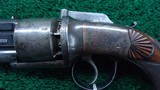 VERY FINE JAMES BEATTIE ENGLISH DOUBLE ACTION PERCUSSION TRANSITIONAL REVOLVER - 7 of 14