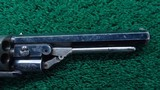 VERY FINE JAMES BEATTIE ENGLISH DOUBLE ACTION PERCUSSION TRANSITIONAL REVOLVER - 8 of 14
