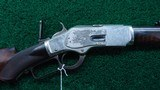 DELUXE SPECIAL ORDER NICKEL 1873 WINCHESTER RIFLE