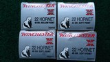 4 BOXES OF 22 HORNET WINCHESTER SUPER X AMMO - 1 of 8