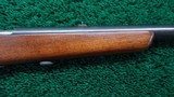 VERY FINE MODEL 58 WINCHESTER 22 CALIBER SINGLE SHOT RIFLE - 5 of 18