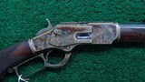 CASE COLORED WINCHESTER DELUXE MODEL 1873 RIFLE