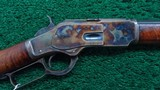 VERY FINE CASE COLORED WINCHESTER MODEL 1873 RIFLE IN CALIBER 38 WCF