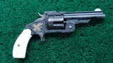 "SMITH & WESSON RARE GUSTAVE YOUNG FACTORY ENGRAVED GOLD INLAID ""BABY RUSSIAN"" REVOLVER IN CALIBER 38"
