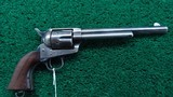 VERY FINE COLT US MARKED NEW YORK MILITIA SINGLE ACTION REVOLVER
