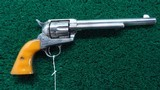 NICKELED COLT 1ST GEN SAA REVOLVER IN CALIBER 45