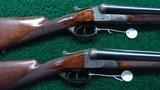 VERY INTERESTING HIGH GRADE PAIR OF J P SAUER DOUBLE BARREL 12 GAUGE SHOTGUNS - 1 of 21