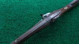 VERY NICE AMERICAN MADE UNMARKED MULE EAR HALF STOCK PERCUSSION RIFLE - 4 of 21