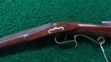 VERY NICE AMERICAN MADE UNMARKED MULE EAR HALF STOCK PERCUSSION RIFLE - 2 of 21