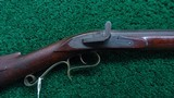 VERY NICE AMERICAN MADE UNMARKED MULE EAR HALF STOCK PERCUSSION RIFLE - 1 of 21
