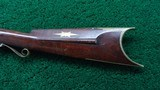 VERY NICE AMERICAN MADE UNMARKED MULE EAR HALF STOCK PERCUSSION RIFLE - 17 of 21
