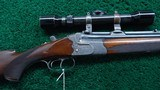 OVER UNDER RIFLE/ SHOTGUN BY CARL FUNK WITH SCOPE - 1 of 23
