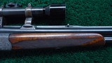 OVER UNDER RIFLE/ SHOTGUN BY CARL FUNK WITH SCOPE - 5 of 23