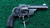 very rare iver johnson safety hammerless 32 caliber da revolver in box