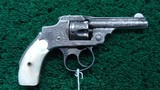 engraved smith & wesson .32 safety hammerless first model in box