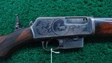 scarce factory engraved winchester model 1905 rifle in caliber 32