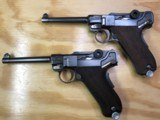 Two Consecutively Numbered Portuguese Contract Mauser Banner GNR Lugers