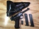 "swedish ""lahti"" model 40 pistol with rig. manufactured by husqvarna"
