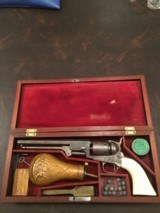 Engraved Colt 1851 Navy- - Cased with all correct accessories.