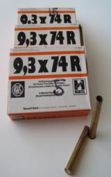 RWS 9.3 X 74R Once Fired Brass 20/Box