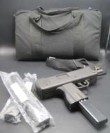 INGRAM MAC10 M10A1 9mm STEPHENVILLE , TX W/3 32 ROUND MAGAZINES , CASE & STRAP EXC. + COND.