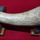 Jack Haugh built Bi-Centennial flintlock rifle, serial number 34 with matching Tom White powder horn numbered to rifle. - 18 of 20