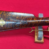 Jack Haugh built Bi-Centennial flintlock rifle, serial number 34 with matching Tom White powder horn numbered to rifle. - 7 of 20