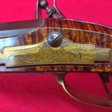 Jack Haugh built Bi-Centennial flintlock rifle, serial number 34 with matching Tom White powder horn numbered to rifle. - 15 of 20