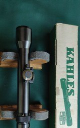 Kahles Helia 26 2-6x riflescope with crosshair reticle. main tube diameter is 1.062 inches