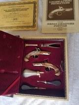 Henry Deringer Gold Mounted Commemorative Pistol Set