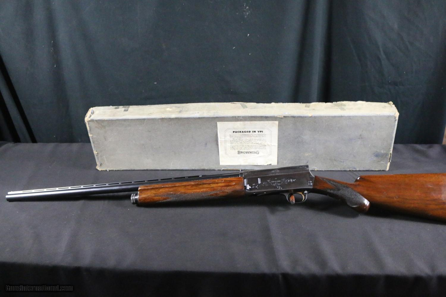 Browning auto 5 sweet sixteen in box sold for 16 box auto