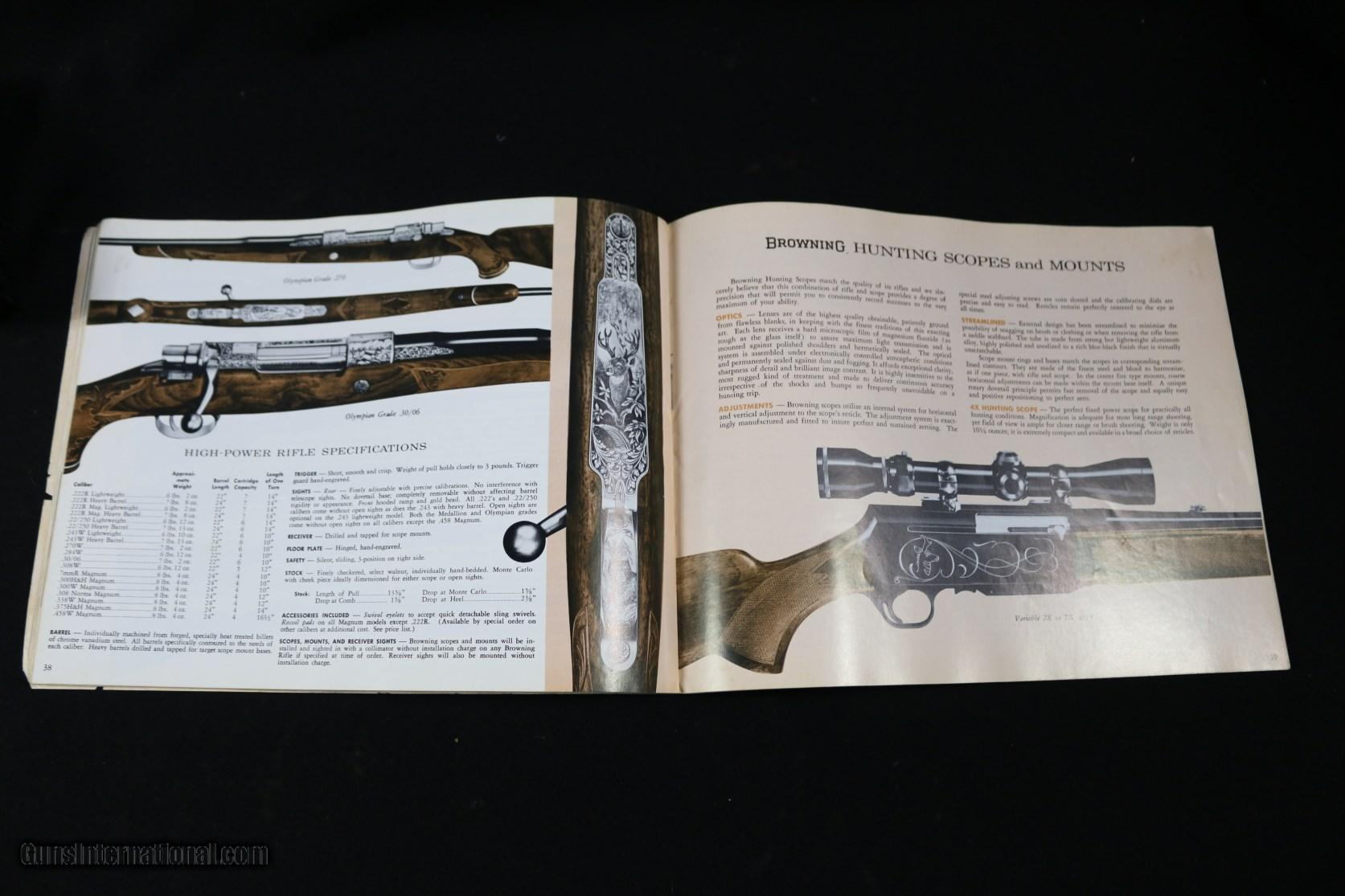 Browning firearms parts catalog browning catalog with all firearms made in 1968 pooptronica