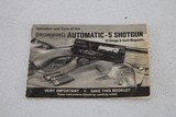 BROWNING AUTO 5 12 GA. MAG. BOOKLET - 1 of 2