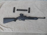 Ruger PC-9 Carbine in 9 MM. with Co-Witnessed Sig Sauer Romeo5 Red Dot and Threaded Barrel, 3 Magazines.