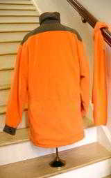 SHOOTING ORANGE FLEECE JACKET