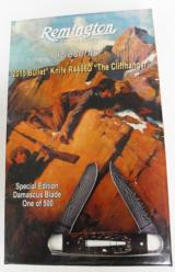 2015 limited edition cliffhanger bullet knife r11001 ( r4466d) damascus, 1 of 500, new in box