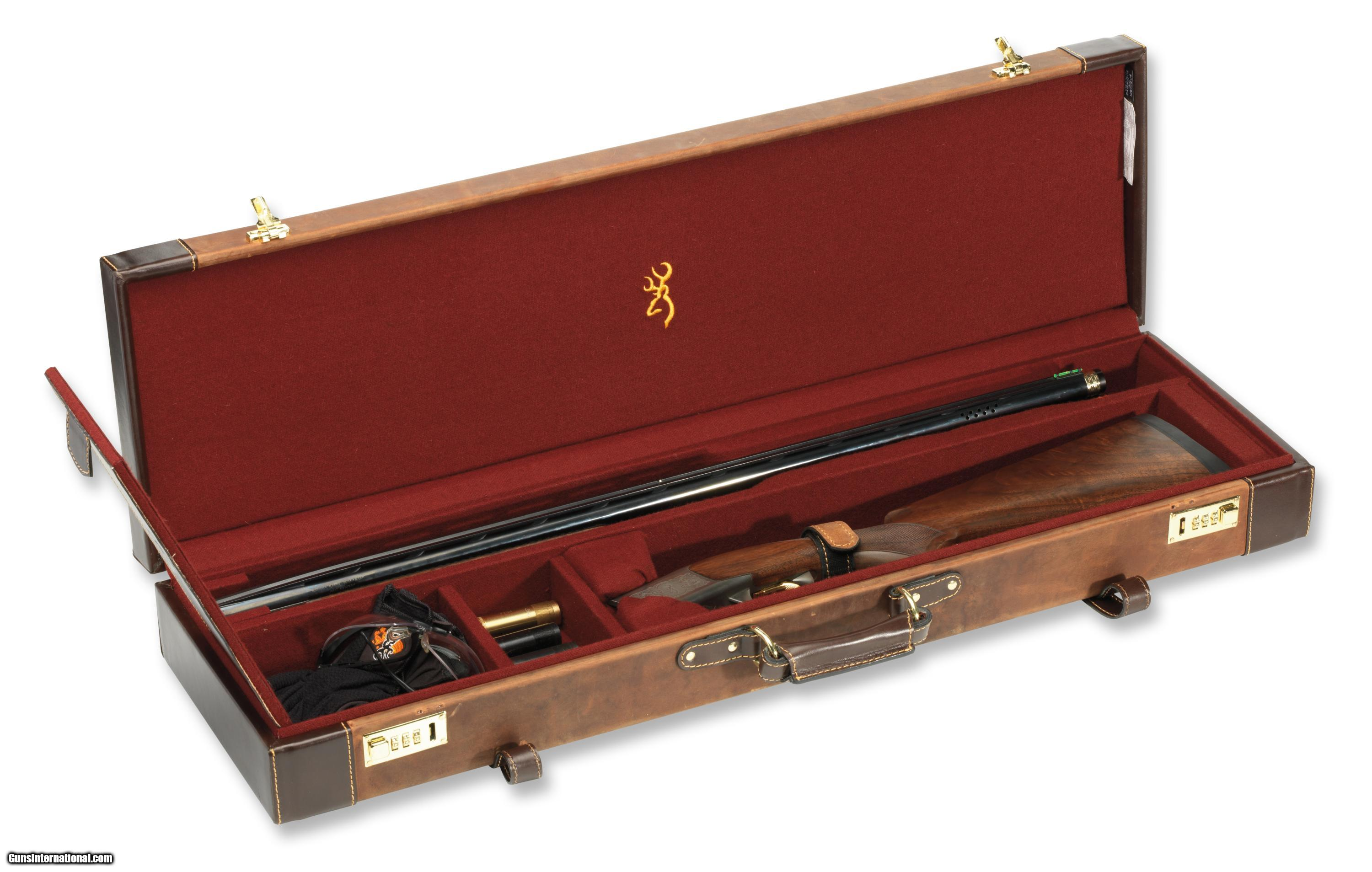 Browning Signature Leather Fitted Gun Case Brand New