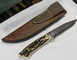 "R W LOVELESS, LAWNDALE, CALIFORNIA, STAG, UTILITY. 5"" BLADE, - 1 of 2"