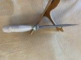 J. BEHRING CUSTOM HUNTING KNIFE, NEW IN SHEATH - 3 of 3