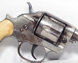 Colt Model 1878 4 inch Nickel/Ivory Etch Panel 44-40 - 3 of 20