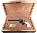 Colt SAA Factory Engraved-Gold Inlaid-Carved Ivory TX Shipped